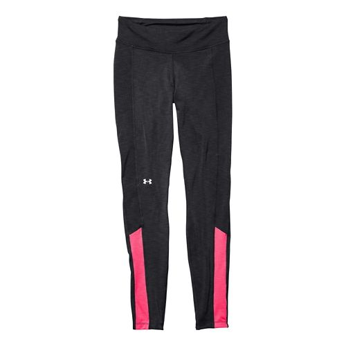 Womens Under Armour Coldgear Cozy Legging Fitted Tights - Black/Pink Shock S