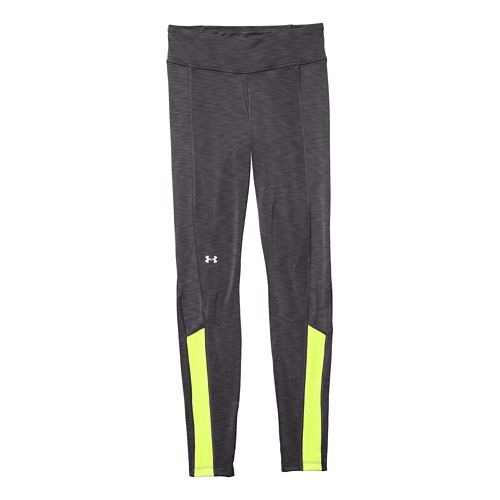 Womens Under Armour Coldgear Cozy Legging Fitted Tights - Phantom Gray/X-Ray XS