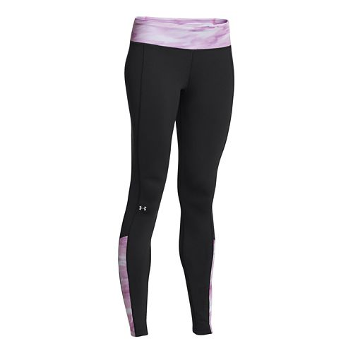 Womens Under Armour Coldgear Cozy Legging Fitted Tights - Black/Lilac XL