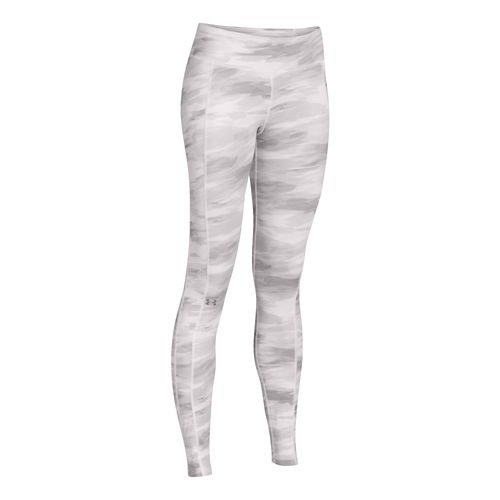 Womens Under Armour Coldgear Cozy Legging Fitted Tights - Grey/Print L
