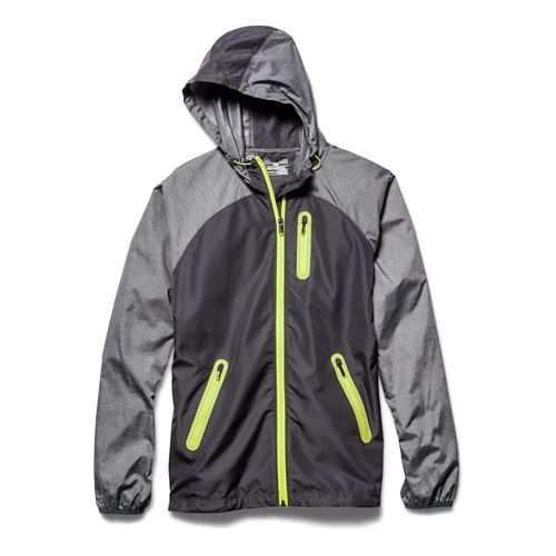 Womens Under Armour UA Qualifier Woven Running Jackets - Phantom Gray/X-Ray S