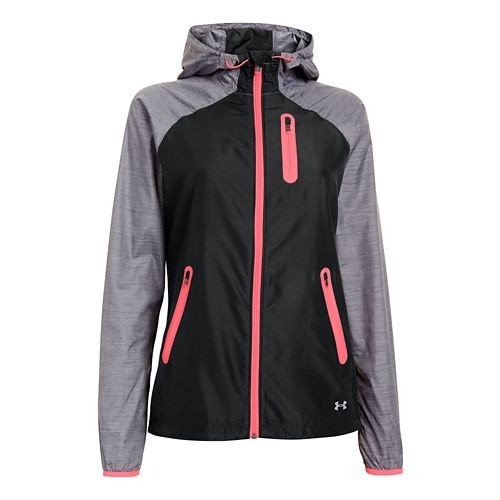 Womens Under Armour UA Qualifier Woven Running Jackets - Black L