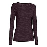 Womens Under Armour UA Cozy Waffle Long Sleeve No Zip Technical Tops