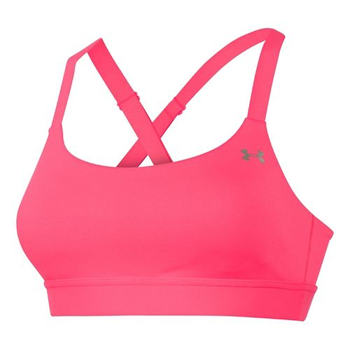 Womens Under Armour UA Eclipse Sports Bra - Pink Shock L