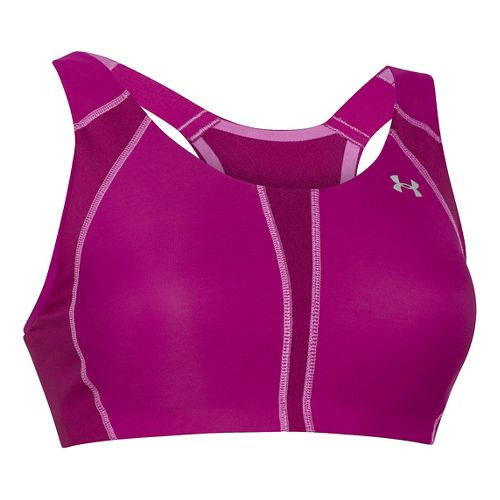Womens Under Armour Armour 2.0 DD Sports Bra - Aubergine/Jellyfish 38DD