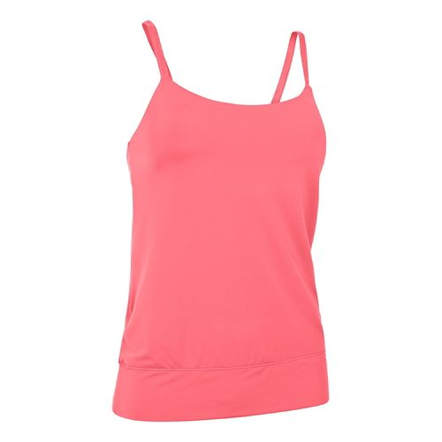 Womens Under Armour Essential Banded Tank Sport Top Bras - Brilliance XS