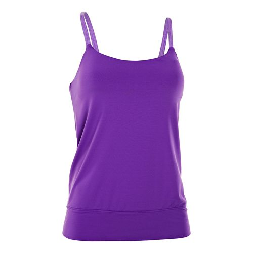 Womens Under Armour Essential Banded Tank Sport Top Bras - Pride L