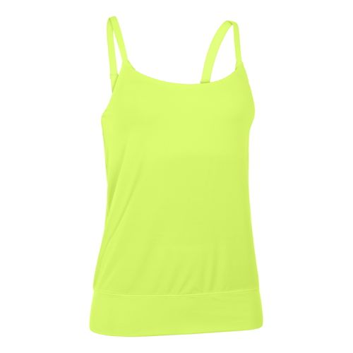 Womens Under Armour Essential Banded Tank Sport Top Bras - X-Ray L