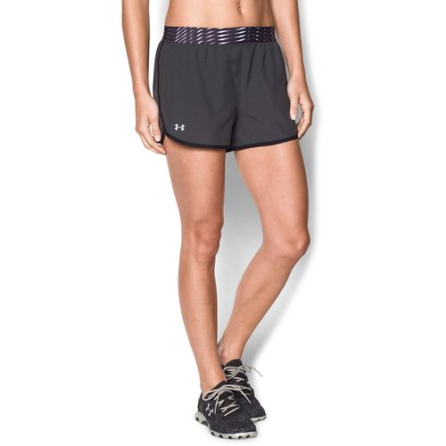 Womens Under Armour Perfect Pace Lined Shorts - Grey/Black S
