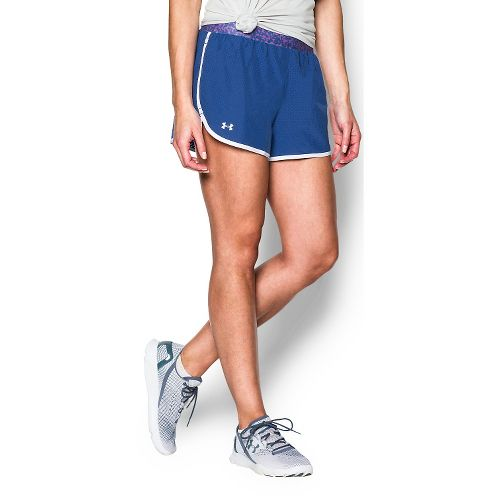Womens Under Armour Perfect Pace Lined Shorts - Cobalt/White M