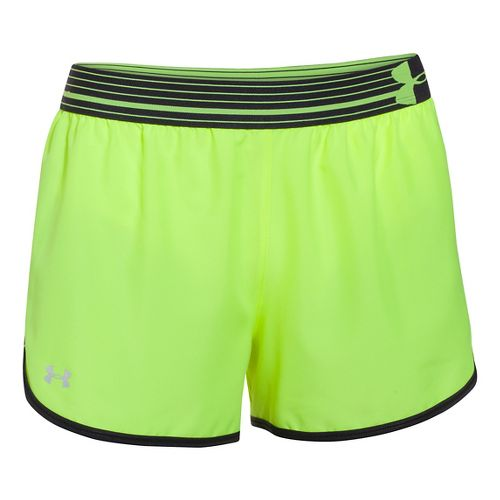 Womens Under Armour Perfect Pace Lined Shorts - X-Ray/Black M