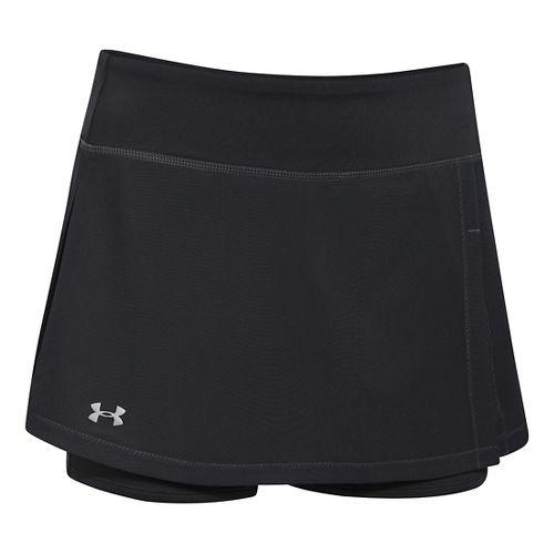 Womens Under Armour Get Set Go Skort Fitness Skirts - Black XL