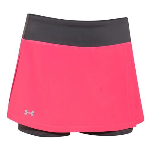 Womens Under Armour Get Set Go Skort Fitness Skirts - Pink Shock XL