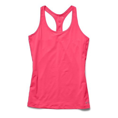 Womens Under Armour ArmourVent Tank Technical Tops - Pink Shock/Pink Shoc XL