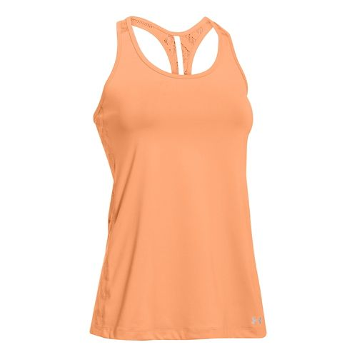 Womens Under Armour ArmourVent Tank Technical Tops - Afterglow XS
