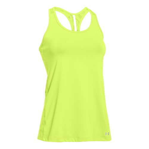 Womens Under Armour ArmourVent Tank Technical Tops - Laser Yellow L