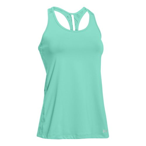 Womens Under Armour ArmourVent Tank Technical Tops - Mint XL