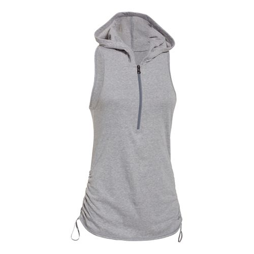 Womens Under Armour Charged Cotton Tri-Blend Perfect Sleeveless Hoody Technical Tops - True ...