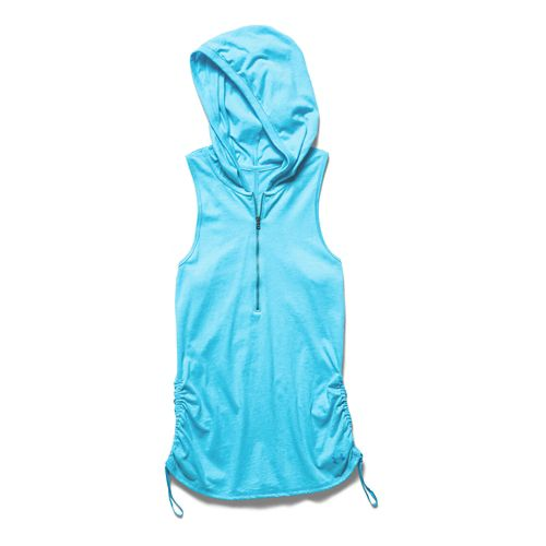 Womens Under Armour Charged Cotton Tri-Blend Perfect Sleeveless Hoody Technical Tops - Island ...