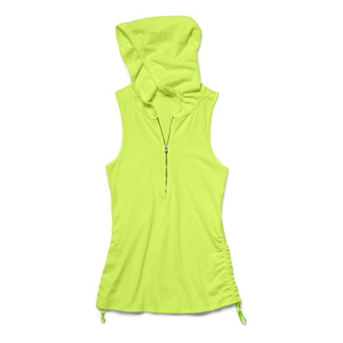 Womens Under Armour Charged Cotton Tri-Blend Perfect Sleeveless Hoody Technical Tops - X-Ray XL