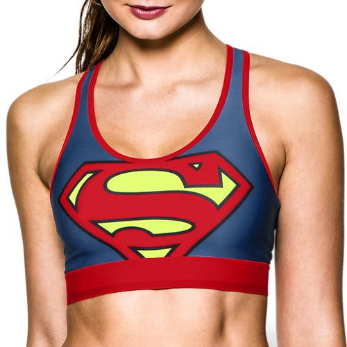 Womens Under Armour Alter Ego Supergirl Sports Bra - Blue/Red XS
