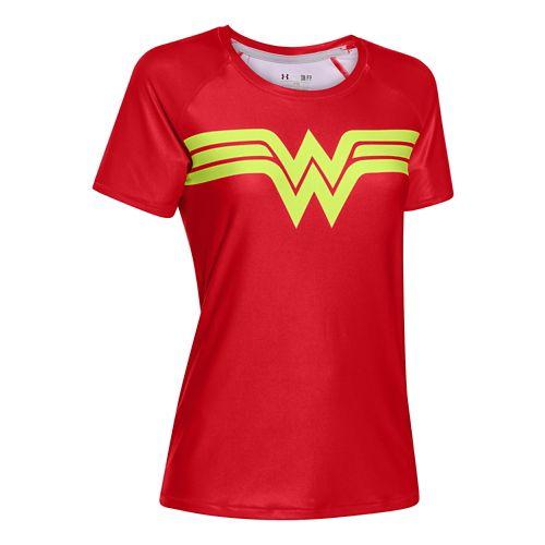 Womens Under Armour Alter Ego Heatgear Sonic Wonder Woman T Short Sleeve Technical Tops - ...