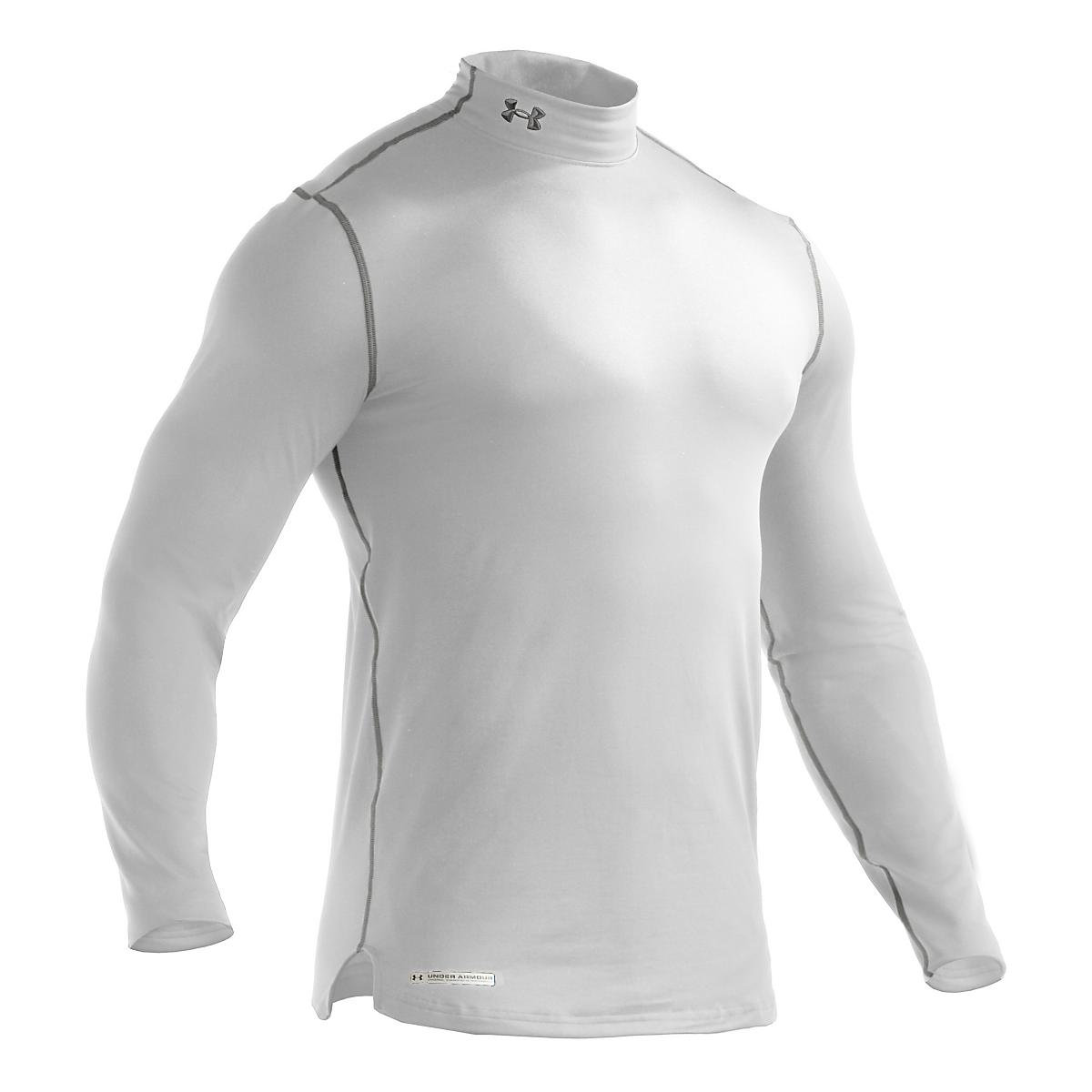 Mens Under Armour Coldgear Fitted Mock Long Sleeve No Zip