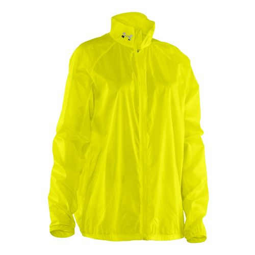 Mens Under Armour UA Deflection Running Jackets - Neon Yellow XL