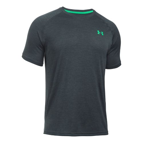 Mens Under Armour Tech Short Sleeve T Technical Tops - Stealth Grey 3XL
