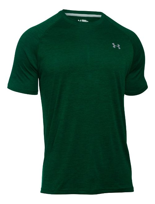 Mens Under Armour Tech Short Sleeve T Technical Tops - White M-T