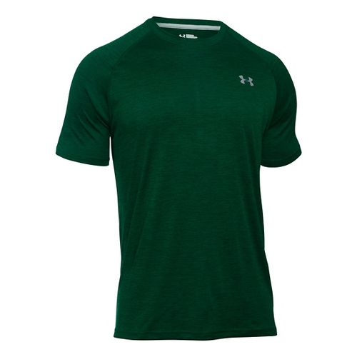 Mens Under Armour Tech Short Sleeve T Technical Tops - Black S