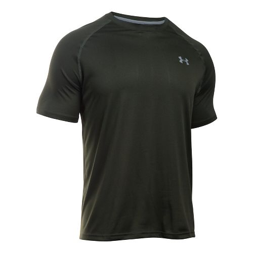Mens Under Armour Tech Short Sleeve T Technical Tops - Artillery Green M