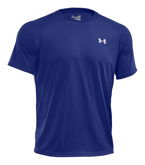 Mens Under Armour Tech Short Sleeve T Technical Tops - Royal/White XS