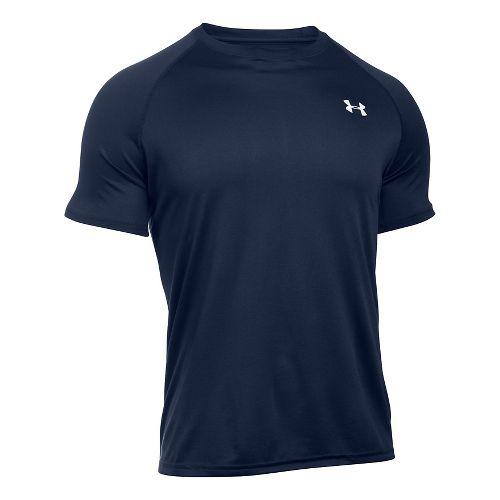 Mens Under Armour Tech Short Sleeve T Technical Tops - Midnight Navy XS