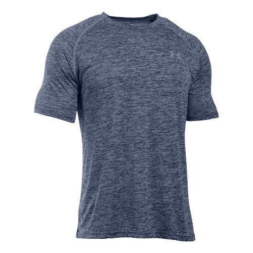 Mens Under Armour UA Tech Short Sleeve T Technical Tops - Academy Twist XXL