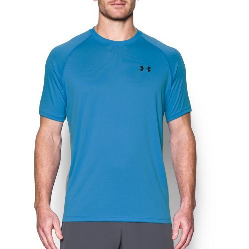 Mens Under Armour Tech Short Sleeve T Technical Tops - Water S