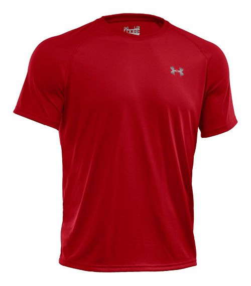 Mens Under Armour Tech Short Sleeve T Technical Tops - Red/White XXL