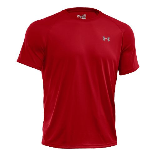 Mens Under Armour Tech Short Sleeve T Technical Tops - Red/White 3XL