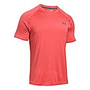 Mens Under Armour Tech Short Sleeve T Technical Tops - Pomegranate S