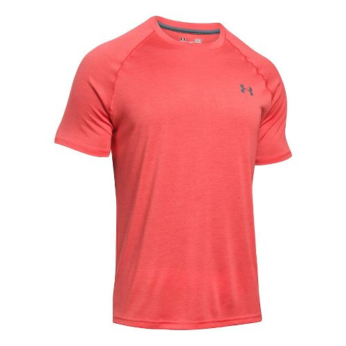 Mens Under Armour Tech Short Sleeve T Technical Tops - Bold Yellow XL