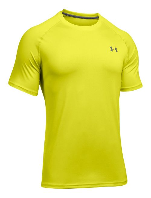Mens Under Armour Tech Short Sleeve T Technical Tops - Magma Orange/Grey M