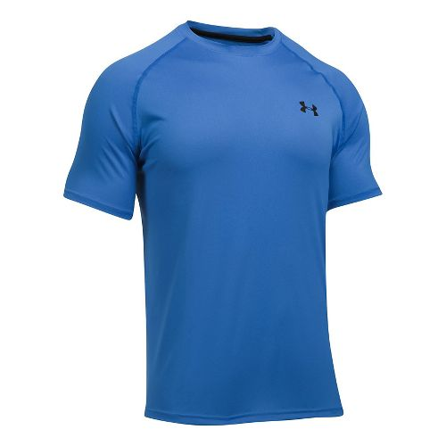 Mens Under Armour Tech Short Sleeve T Technical Tops - Blue Marker S