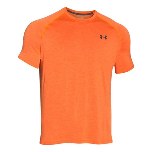 Mens Under Armour Tech Short Sleeve T Technical Tops - Beta Orange XL