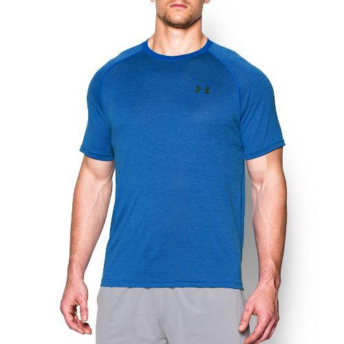 Mens Under Armour Tech Short Sleeve T Technical Tops - Ultra Blue L