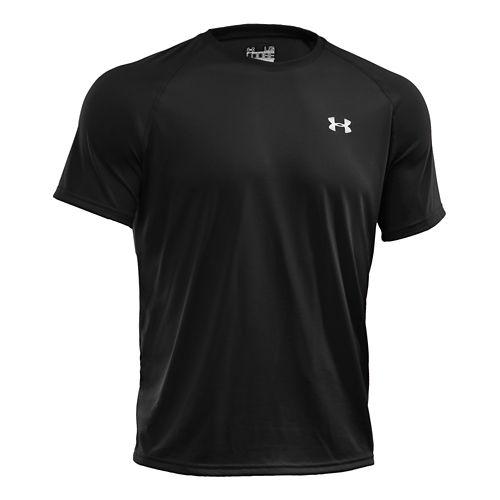 Mens Under Armour Tech Short Sleeve T Technical Tops - Black S