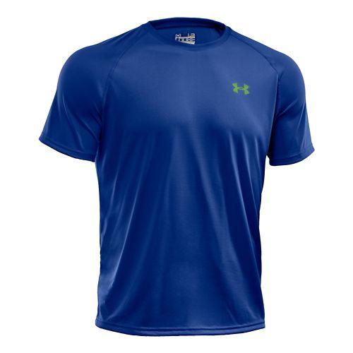Mens Under Armour Tech Short Sleeve T Technical Tops - Blu-Away L