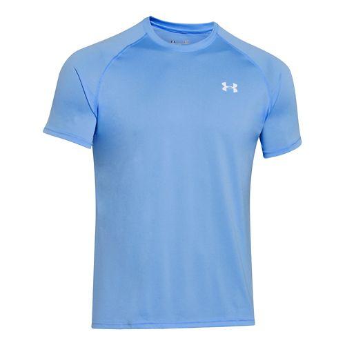 Mens Under Armour Tech Short Sleeve T Technical Tops - Carolina Blue/White 3XL