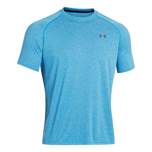 Mens Under Armour UA Tech Short Sleeve T Technical Tops - Electric Blue L