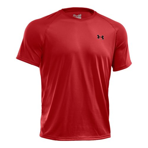 Mens Under Armour UA Tech Short Sleeve T Technical Tops - Fire M