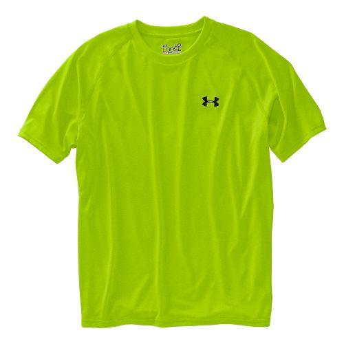 Mens Under Armour UA Tech Short Sleeve T Technical Tops - Green Flash S